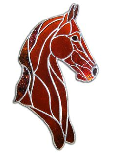 Saddlebred Style is a stained glass horse design from EquineArtglass.com featuring the elegant lines of the saddlebred.