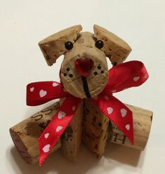 Kathy's AngelNik Designs & Art Project Ideas: Corky - The Wine Cork Doggy DIY