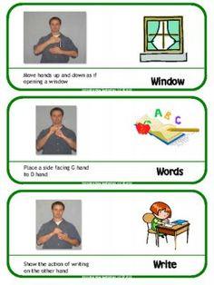 ASL Classroom Labels, Vol 1 |