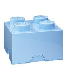 Look at this #zulilyfind! Light Blue LEGO 2 x 2 Storage Brick #zulilyfinds