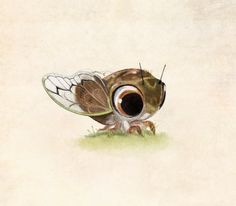 A little cicada! By Syd @Tumblr
