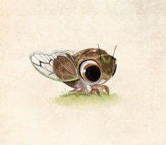 A little cicada! By Syd @Tumblr