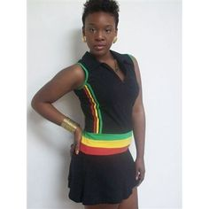 Rasta colors dress 1115