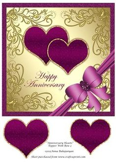 - Lovely topper for Anniversary cards which I have designed with my metallic square base with my swirly decorations, 2 hearts, . Happy Anniversary Sister, Anniversary Wishes Message, Anniversary Wishes For Couple, Happy Wedding Anniversary Wishes, 50th Anniversary Cards, Happy Anniversary Cakes, Happy Birthday Celebration, Happy Birthday Flower, Anniversary Greetings