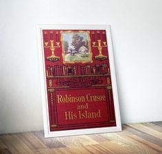 Robinson Crusoe Classic Book Vintage Prints by DareToDreamPrints