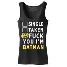 Women's Batman Tank Top.  *two thumbs up*