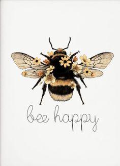 Desenho Tattoo, Bee Art, Bee Happy, Bees Knees, Tattoo Inspiration, Art Drawings, Artsy, Sketches, Illustrations