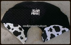 Cow Print Boppy Pillow Cover by LilyBeanCouture , $25.00  Find me on FB www.facebook.com/lilybeancouturedesigns