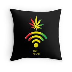 """High-Fi Potspot"" Throw Pillows by Samuel Sheats 