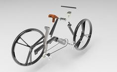 Unlike other folding bikes with multiple sideways hinges, this innovative concept features one simplistic rotary mechanism that makes it possible to collapse in one easy motion.