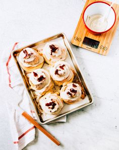 Get the recipe for these delicious Breakfast rolls on the blog. Maple Bacon Cinnamon Buns, yum!