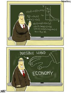 Human action (the invisible hand) guides the economy, not human design. #Econ #SpontaneousOrder