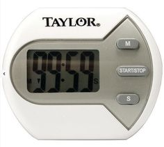 """Taylor Classic Big Digit Timer for Kitchen 0.7"""" Display Clip Magnet or Stand Up #Taylor"""