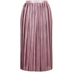 06c9138498ca Topshop Metallic Pleated Jersey Skirt ($42) ❤ liked on Polyvore featuring  skirts, metallic