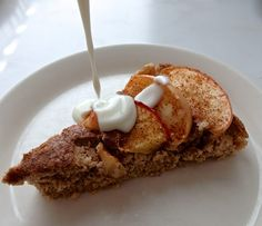 Healthy protein apple pie (in finnish, let your computer translate for you or use Google)