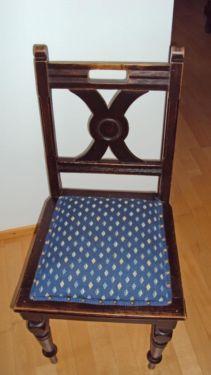 Antiker Stuhl mit neuwertiger Polsterung in München - Schwabing-West   Stühle gebraucht kaufen   eBay Kleinanzeigen