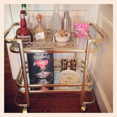 My bar cart that I found at Salvation Army.
