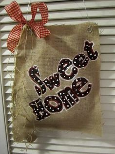 Sweet Home Alabama Burlap Door Hanging. $22.00, via Etsy.