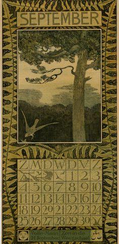 Theodoor van Hoytema, calendar 1904 september