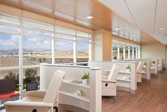 UCLA Health Porter Ranch Primary & Speciality Care - oncology infusion room, chairs.