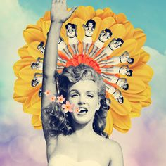 Love Marilyn Monroe by Ile Machado collage, colagem, colagens, collage, vintage