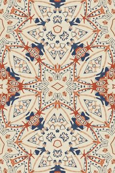 SUNO Prints, Patterns, and Textiles. This reminds me of a ceiling in one of the… Textile Prints, Textile Patterns, Textile Design, Color Patterns, Print Patterns, Surface Design, Surface Pattern, Pattern Art, Pattern Design