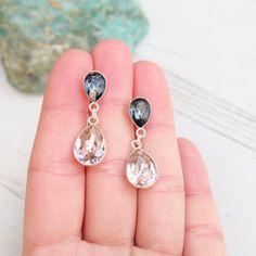 Sterling Silver Swarovski Crystal by MalisaJewellery on Etsy