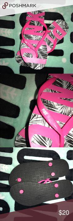 EUC Pink Victoria's Secret Flip Flops Bundle & Save Pink Victoria's Secret Flip Flops PINK Victoria's Secret Shoes Sandals