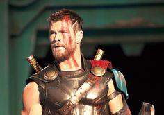 Chris Hemsworth Has A New Haircut And No Hammer In First 'Thor: Ragnarok' Photos #BenedictCumberbatch, #ChrisHemsworth, #Hulk, #MarkRuffalo, #Marvel, #Thor, #Thor:Ragnarok celebrityinsider.org #Movies #celebrityinsider #celebrities #celebrity #rumors #celebritynews #gossip