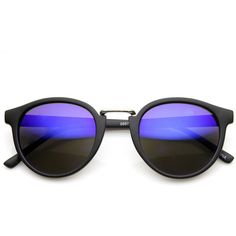 Dapper flash mirrored lens matte black round horned rim sunglasses... (395 UYU) ❤ liked on Polyvore featuring accessories, eyewear, sunglasses, glasses, round sunglasses, horn rimmed sunglasses, mirrored lens sunglasses, mirror lens sunglasses and round glasses