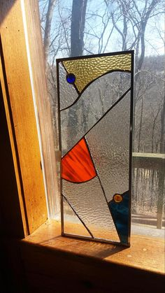 measures approximately: 20 3/8 x 8 1/4 inches. not original design. Made from a shop in York, PA with over forty years of stained glass making history. http://www.sunshineconstructions.com/