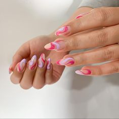 Summer Acrylic Nails, Best Acrylic Nails, Acrylic Nail Designs, Spring Nails, Light Pink Nail Designs, Stylish Nails, Trendy Nails, Nagellack Design, Acylic Nails