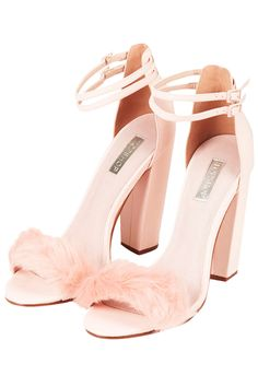Topshop Rabbit Faux Fur Fluffy Sandals in Pink