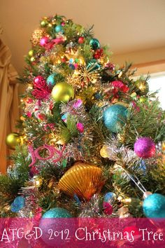 Colorful Christmas Tree - I did this last year and I think I will continue.  It's so amazing
