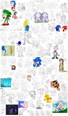 Oh my... some of these are SO DAMN OLD Just some drawings I never posted because I didn't consider them good enough XD; The file is huge so if you want to see it better click download button &heart...