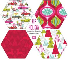 Christmas fabric we love! - Hip Holiday by Josephine Kimberling for Blend Fabric