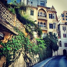 Beirut, a beautiful old mansion, a nice street scene The Places Youll Go, Great Places, Places To Go, Old Mansions, Beirut Lebanon, Beautiful Places To Visit, Travel Goals, Beautiful Architecture, Vacation Spots