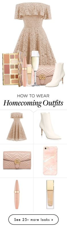 """""""186"""" by scarlett-anon on Polyvore featuring Gucci, Gianvito Rossi, Spiegelau, Sephora Collection and Maybelline"""