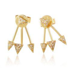 Earrings 18K Yellow Gold Diamond Spike Earrings SE68781EFZZ