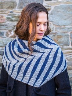 Watson is a garter stitch scarf or shawl with a genius design, using a series of short rows and strategic increases to create feather-like stripes. Knitting Supplies, Knitting Projects, Shawl Patterns, Knitting Patterns, Knitting Accessories, Garter Stitch, Knitted Shawls, Shawls And Wraps, Textiles