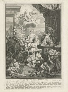 Triomf van de schilderkunst, Bernard Picart, 1725