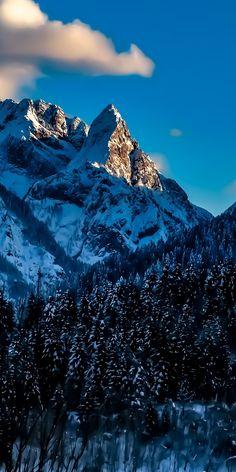 Snow mountains, winter, Italy, 1080x2160 wallpaper