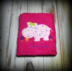 Hippo Toddler Bib  FREE PERSONALIZATION by CrabbyNurseCreations, $14.00