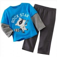 Rock Star, Children Clothing sets, long sleeve T shirt + pant sets Pajamas for age Boys Suit Sets, Boys Suits, Baby Boy Outfits, Kids Outfits, Costume, Long Sleeve Pyjamas, Trouser Suits, Outfit Sets, Pajama Set