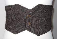 Penny Brown Steampunk belt. $31.00, via Etsy.