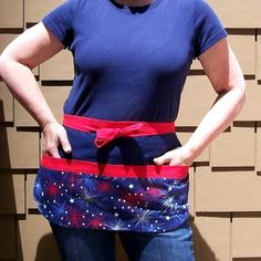 Great 4th of July vendor/waitress tool belt apron