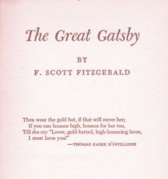 Classic Read:The Great Gatsby.