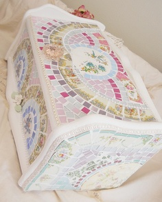 I love this bread box by Viktoria's Shabby Cottage