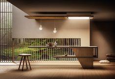Elica, lullaby, reception minimal kitchen design, k Japanese Interior Design, Interior Design Images, Minimalist Architecture, Interior Architecture, Küchen Design, House Design, Minimal Kitchen Design, Japanese House, Minimalist Home