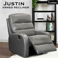 Justin Recliner is easy on the pocket but heavy in features. This recliner is crafted with leather air. Leather air is an artificial leather pasted on a thick fabric which increases the durability and is more breathable as compared to others. Ultra cushioned seats and recliner give you the most comfortable feeling.